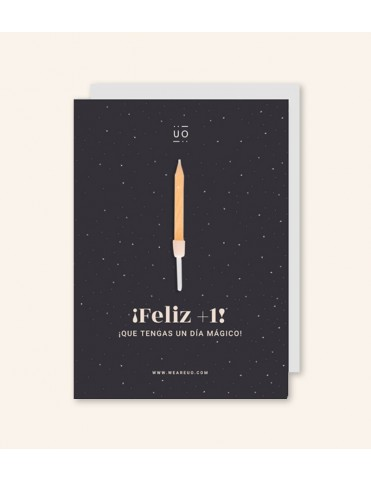 """POSTAL """"¡FELIZ +1! QUE TENGAS UN DÍA MÁGICO"""""""