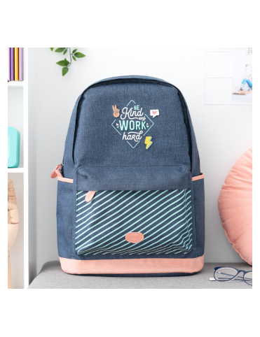 MOCHILA - BE KIND AND WORK...