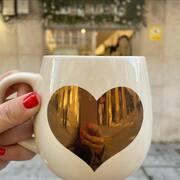 CUORE GOLD ✨taza bonita en SMILE (12,90€) #gold #cuore #smile #mug #smiletiendas #cosasbonitas #deco #smiledeco #love #happyideas #regalos #autoregalos